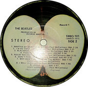 Double LP - The Beatles - The Beatles - Jacksonville Pressing, Numbered, No Capitol text,