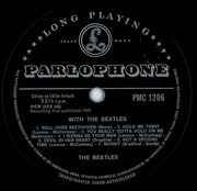 LP - The Beatles - With The Beatles - Denmark Mono ORIGINAL