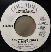 7inch Vinyl Single - The Carter Family With Johnny Cash - The World Needs A Melody