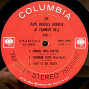 Double LP - The Dave Brubeck Quartet - At Carnegie Hall