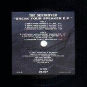 12inch Vinyl Single - The Destroyer - Break Your Speaker E.P.