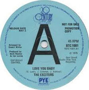 7inch Vinyl Single - The Exciters - Love You Baby