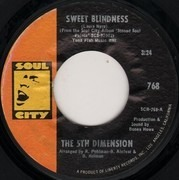 7inch Vinyl Single - The Fifth Dimension - Sweet Blindness / Bobbie's Blues (Who Do You Think Of?)