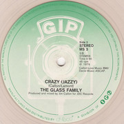 12inch Vinyl Single - The Glass Family - Crazy - Clear Vinyl
