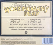 CD - The Grateful Dead - Workingman's Dead
