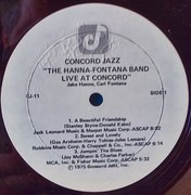 LP - The Hanna-Fontana Band Featuring Jake Hanna And Carl Fontana - Live At Concord