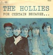 LP - The Hollies - For Certain Because... - Original 1st UK, Mono cover
