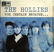 LP - The Hollies - For Certain Because... - GERMAN ORIGINAL ODEON