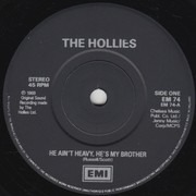 12inch Vinyl Single - The Hollies - He Ain't Heavy, He's My Brother