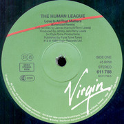 12'' - The Human League - Love Is All That Matters