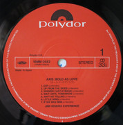 LP - The Jimi Hendrix Experience - Axis: Bold As Love - +OBI