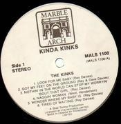 LP - The Kinks - Kinda Kinks - BLACK & WHITE LABELS