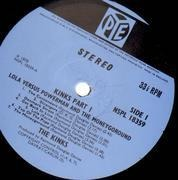 LP - The Kinks - Lola Versus Powerman And The Moneygoround, Part One - UK ORIGINAL PYE