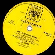 LP - The Kinks - Well Respected Kinks - YELLOW LABELS