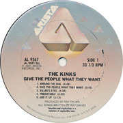 LP - The Kinks - Give The People What They Want - Columbia Terre Haute Pressing