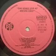 LP - The Kinks - Live At Kelvin Hall - Still sealed
