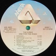 Double LP - The Kinks - One For The Road - Gatefold