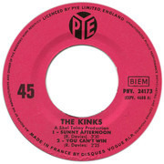 7inch Vinyl Single - The Kinks - Sunny Afternoon - Original French EP