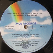 LP - The Mamas & The Papas - Farewell To The First Golden Era