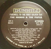 LP - The Mamas & The Papas - Farewell To The First Golden Era - Monarch Press