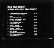 CD - The Miles Davis Quintet - Workin' With The Miles Davis Quintet - Digipak