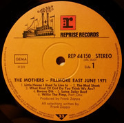 LP - The Mothers Of Invention - Fillmore East - June 1971 - ORIGINAL
