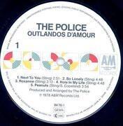 LP - The Police - Outlandos D'Amour