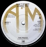 7inch Vinyl Single - The Police - Can't Stand Losing You / Dead End Job