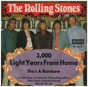 7inch Vinyl Single - The Rolling Stones - 2,000 Light Years From Home / She's A Rainbow - picture sleeve