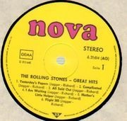 LP - The Rolling Stones - Great Hits - Yellow Nova Label!