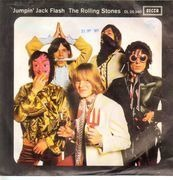 7inch Vinyl Single - The Rolling Stones - Jumpin' Jack Flash / Child Of The Moon - picture sleeve