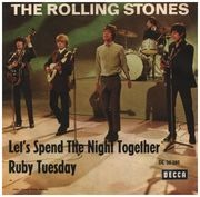 7inch Vinyl Single - The Rolling Stones - Let's Spend The Night Together / Ruby Tuesday - picture sleeve