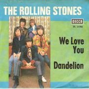 7inch Vinyl Single - The Rolling Stones - We Love You / Dandelion - picture sleeve