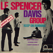 7inch Vinyl Single - The Spencer Davis Group - Keep On Running - Original French EP