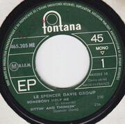7inch Vinyl Single - The Spencer Davis Group - Somebody Help Me - Original French EP
