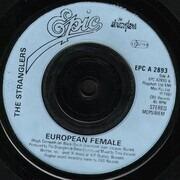 7inch Vinyl Single - The Stranglers - European Female - Light Blue Injection Labels