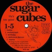 LP - The Sugarcubes - Life's Too Good