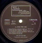 LP - The Temptations - A Song For You - Gimmix Cover