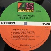 LP - The Temptations - Bare Back - Presswell
