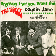 7inch Vinyl Single - The Troggs - Anyway That You Want Me - Cousin Jane