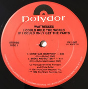 12inch Vinyl Single - The Waitresses - I Could Rule The World If I Could Only Get The Parts