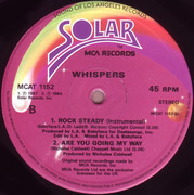 12inch Vinyl Single - The Whispers - Rock Steady - Picture Sleeve