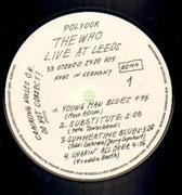 LP - The Who - Live At Leeds - NO documents