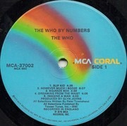 LP - The Who - By Numbers - MCA CORAL