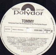Double LP - The Who - Tommy - PROMO