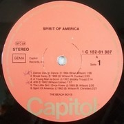Double LP - The Beach Boys - Spirit Of America