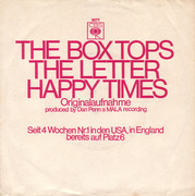 7'' - The Box Tops - The Letter / Happy Times