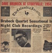 LP - The Dave Brubeck Quartet - Dave Brubeck At Storyville:  1954