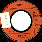 7'' - The Hollies - Write On