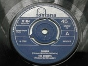 7'' - The Merseys - Sorrow - 3 Prong Pushout Centre